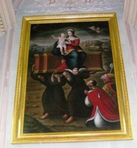 Il dipinto dopo il restauro (foto Giovanni Scuderi)