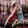 La Madonna, il Cristo e l'Angelo: movenze ed applausi per «'a Paci»