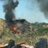 """Fuoco e fumi in zona Sommacco Incendio nella discarica """"occultata"""""""