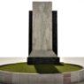 Monumento dedicato a San Placido nella rotatoria di viale dei Fiori