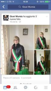 giusi-mursia-con-fascia-tricolore-su-facebook